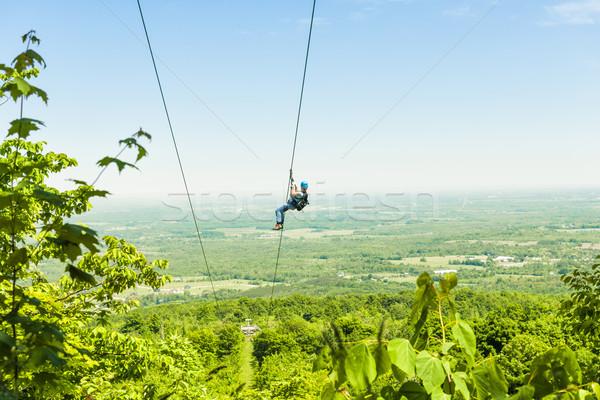 Zip-lining Stock photo © elenaphoto