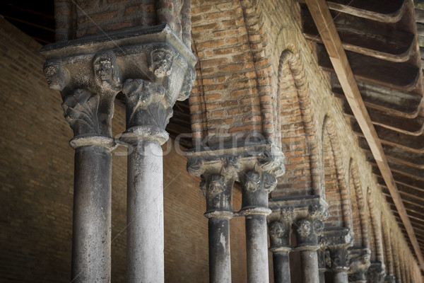 Cloister columns, Couvent des Jacobins Stock photo © elenaphoto