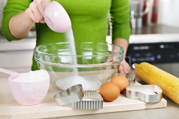 Mixing ingredients for cookies Stock photo © elenaphoto