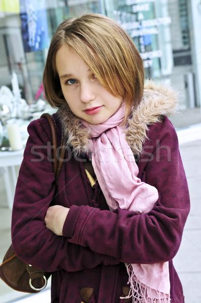 Frío tiempo fuera nina primavera Foto stock © elenaphoto
