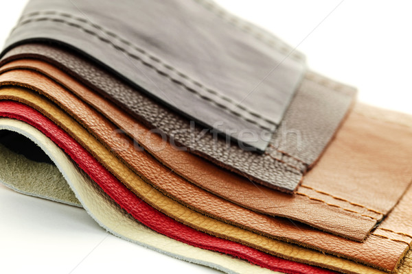 Leather upholstery samples Stock photo © elenaphoto