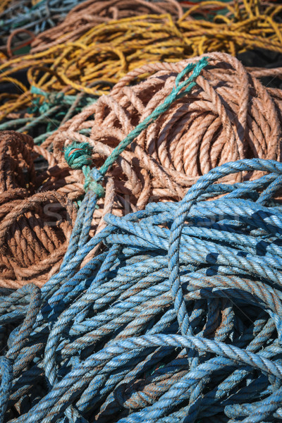 Fishing ropes Stock photo © elenaphoto