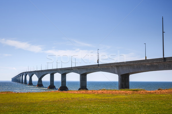 Puente Canadá paisaje isla del príncipe eduardo agua carretera Foto stock © elenaphoto