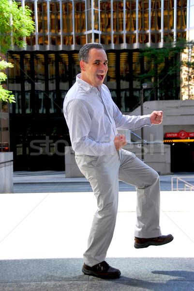 Imprenditore successo vittoria dance mani Foto d'archivio © elenaphoto