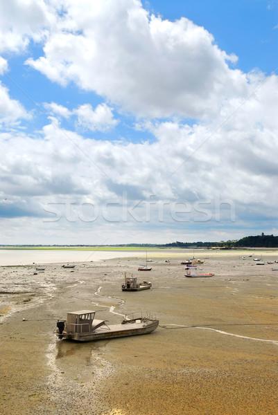 Pesca barcos Francia océano piso bajo Foto stock © elenaphoto