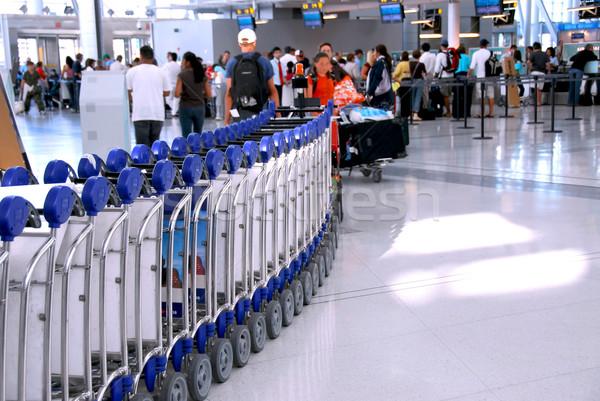 Airport crowd Stock photo © elenaphoto