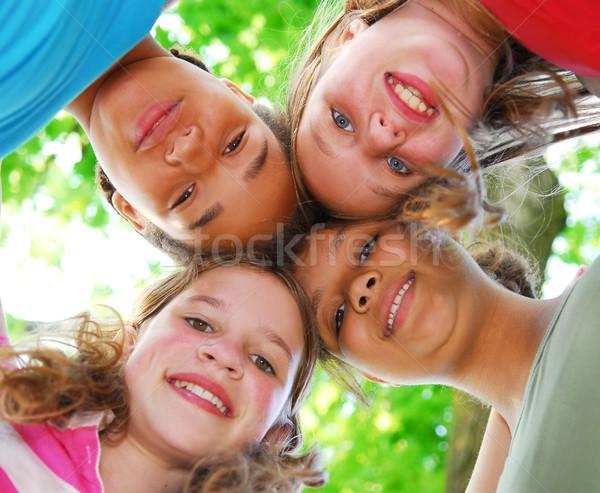 Four girls Stock photo © elenaphoto