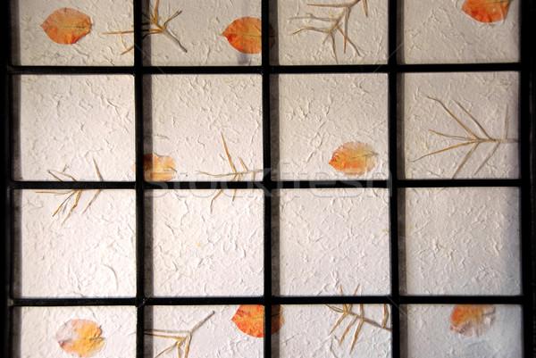 Rice paper screen Stock photo © elenaphoto