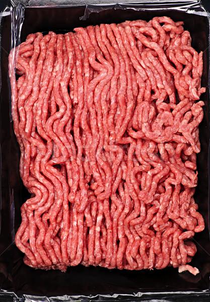 Ruw grond vlees pakket Rood Stockfoto © elenaphoto