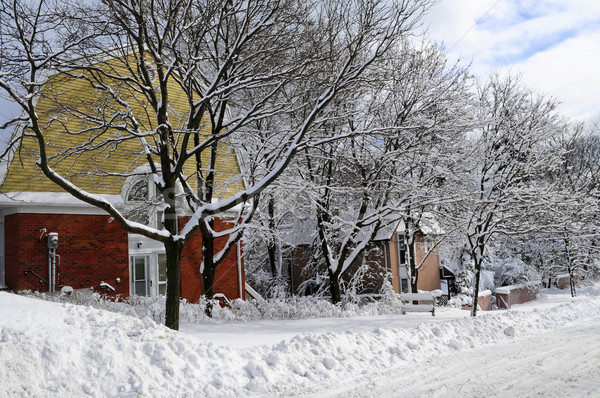 Winter street Stock photo © elenaphoto
