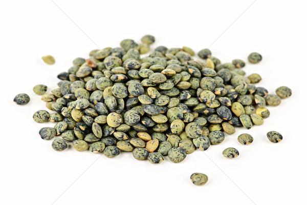 Pile of uncooked French lentils Stock photo © elenaphoto
