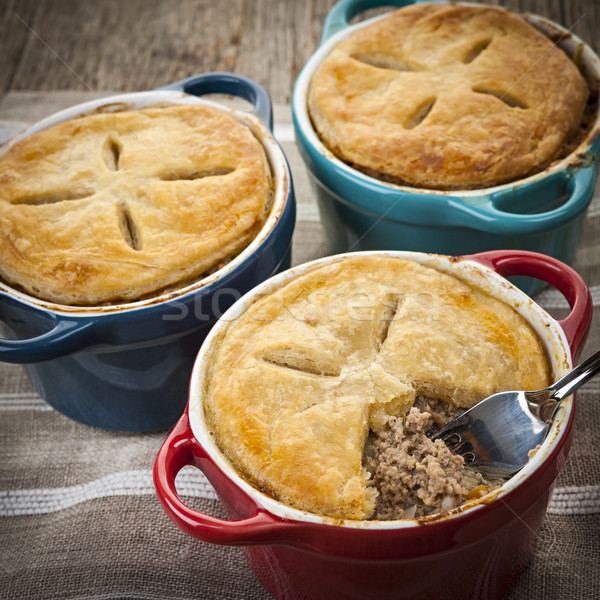 Stock photo: Homemade meat potpies