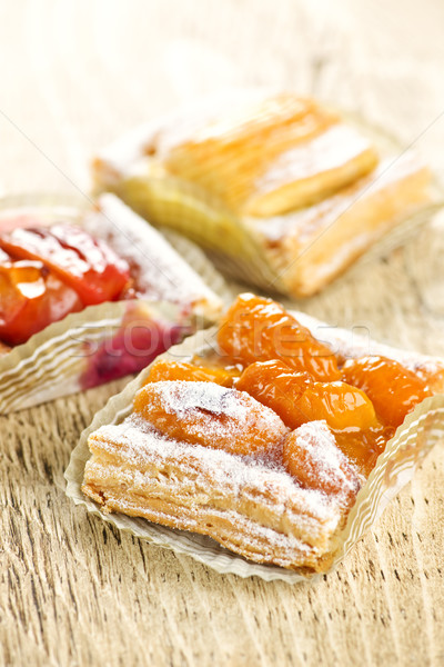 Pieces of fruit strudel Stock photo © elenaphoto