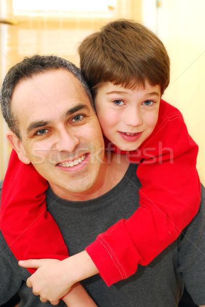 Father son portrait Stock photo © elenaphoto