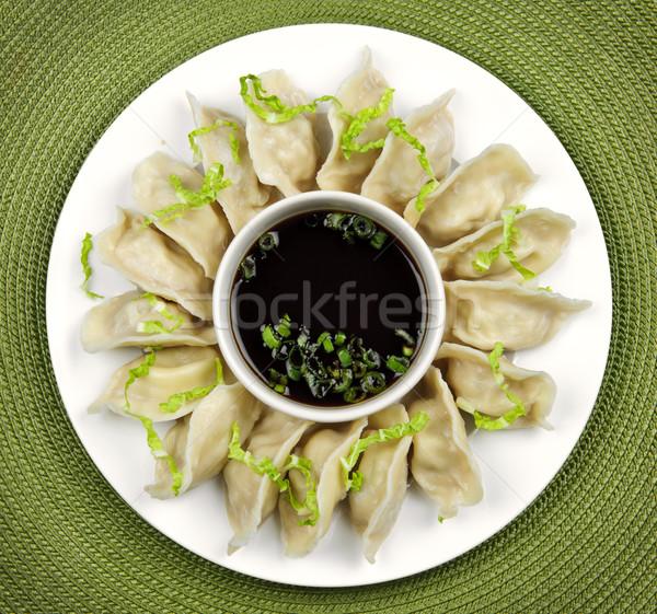 Párolt szójaszósz tányér étel étterem vacsora Stock fotó © elenaphoto