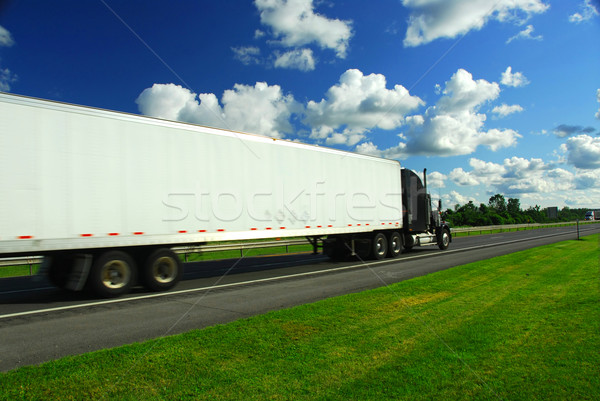 Fast moving truck Stock photo © elenaphoto
