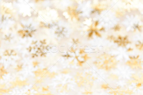 Рождества золото аннотация расплывчатый Сток-фото © elenaphoto