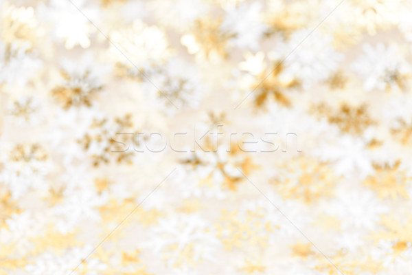 Natal ouro flocos de neve dourado abstrato turva Foto stock © elenaphoto