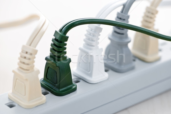 Fili potere bar molti elettrici tecnologia Foto d'archivio © elenaphoto
