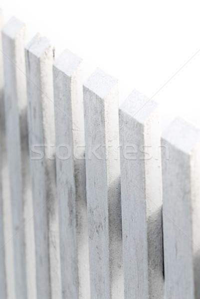 Branco cerca isolado madeira parede abstrato Foto stock © elenaphoto