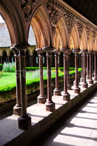 Mont Saint Michel cloister  Stock photo © elenaphoto