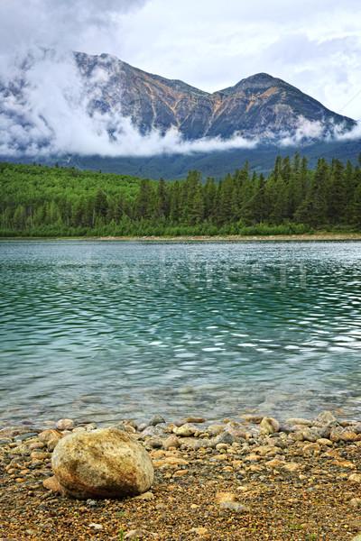 Mountain lake in Jasper National Park Stock photo © elenaphoto
