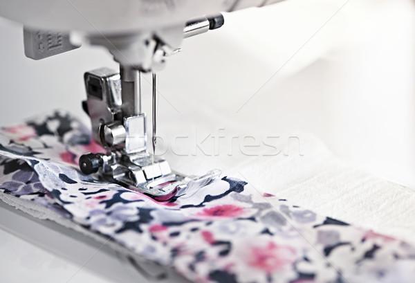 Maszyny do szycia igły wątku tkaniny metal Zdjęcia stock © elenaphoto
