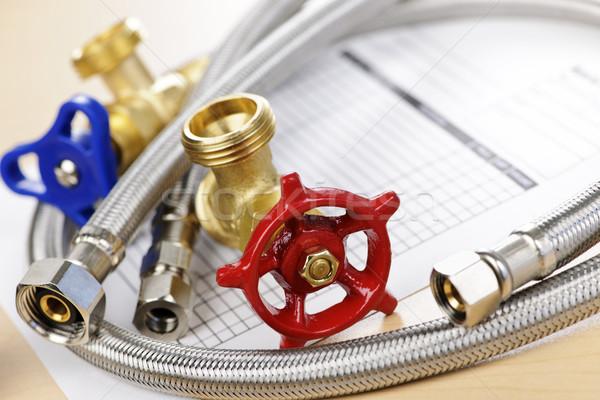 Plumbing parts Stock photo © elenaphoto