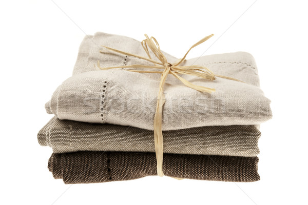Linen napkins Stock photo © elenaphoto