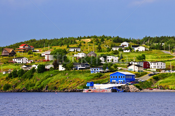 Fishing village in Newfoundland Stock photo © elenaphoto