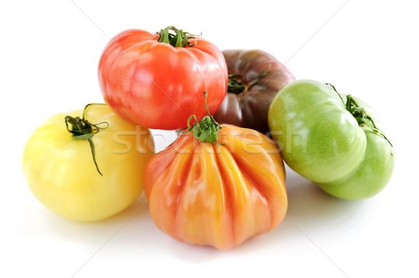 Heirloom tomatoes Stock photo © elenaphoto