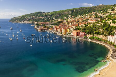 Villefranche-sur-Mer and Cap de Nice on French Riviera Stock photo © elenaphoto