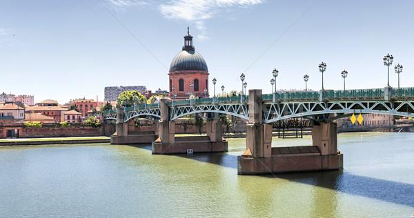 Saint-Pierre Bridge in Toulouse Stock photo © elenaphoto