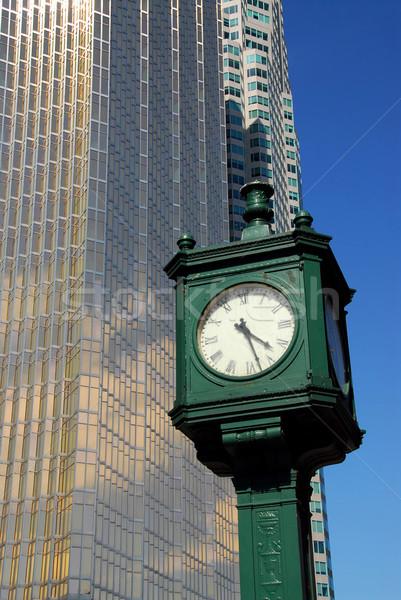 City clock Stock photo © elenaphoto