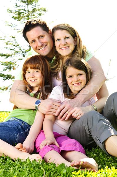 Happy family Stock photo © elenaphoto