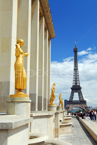 Eiffel tower from Trocadero Stock photo © elenaphoto