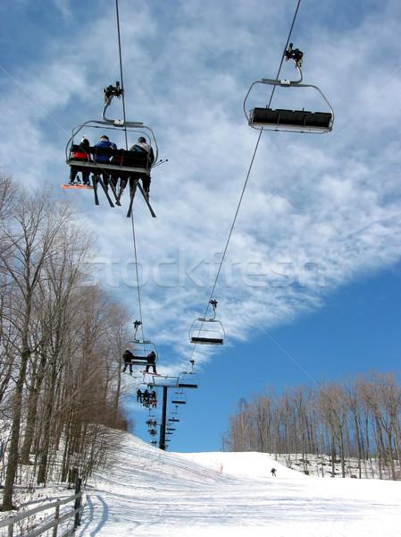 Downhill ski chairlift  Stock photo © elenaphoto