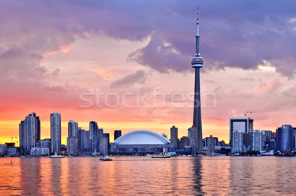 Toronto skyline Stock photo © elenaphoto