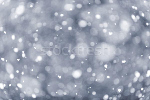 Snowfall background Stock photo © elenaphoto