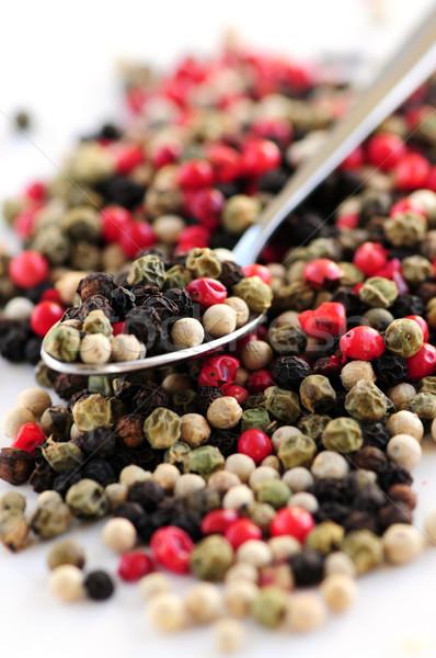 Mixed peppercorns Stock photo © elenaphoto