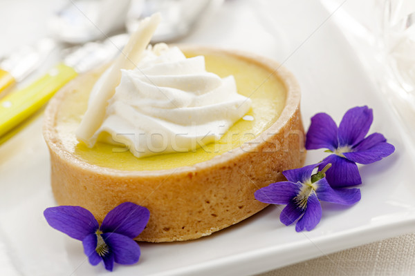 Limón tarta postre frescos comestible Foto stock © elenaphoto