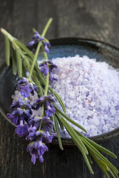 Lavender bath salts Stock photo © elenaphoto
