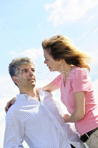 Mature romantic couple Stock photo © elenaphoto