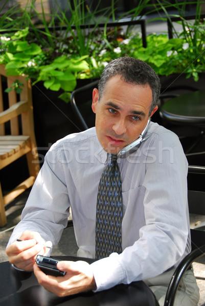 Busy businessman Stock photo © elenaphoto