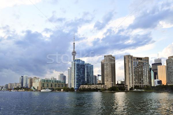 Toronto horizonte ciudad tarde tarde Foto stock © elenaphoto