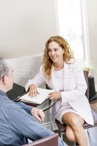 агент заседание клиент служба бизнеса Сток-фото © elenaphoto