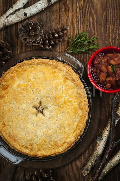 Meat pie Tourtiere Stock photo © elenaphoto