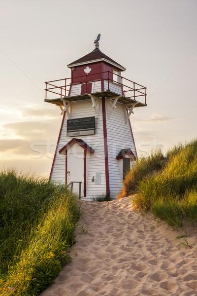 Puerto faro isla del príncipe eduardo Canadá edificio verano Foto stock © elenaphoto