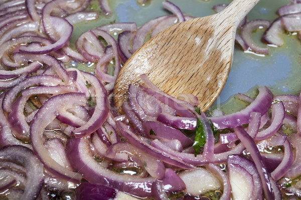 Sauteed onions Stock photo © elenaphoto