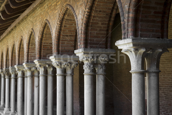 Cloister, Couvent des Jacobins Stock photo © elenaphoto